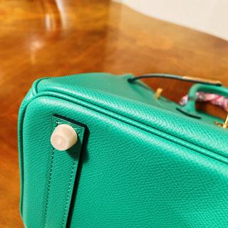本革 エプソン グリーン 25センチ バッグ