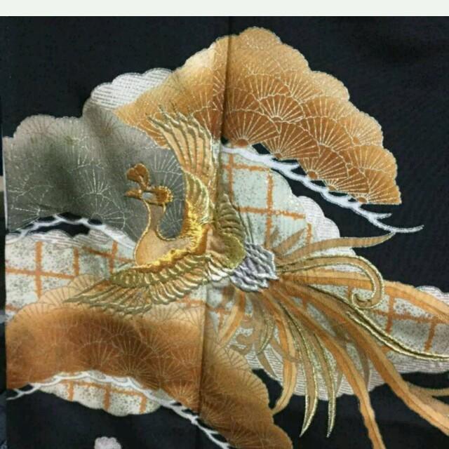 豪華鳳凰  黒留袖 レディースの水着/浴衣(着物)の商品写真
