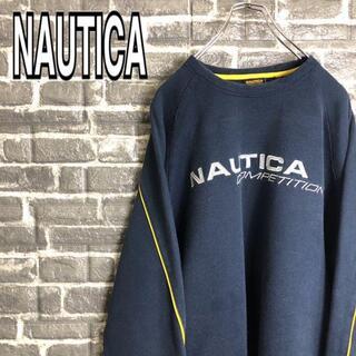 ノーティカ(NAUTICA)のノーティカ☆スウェット 古着 ゆるだぼ デカロゴ 刺繍ロゴ 90s f62(スウェット)