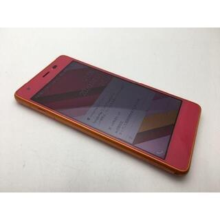 キョウセラ(京セラ)のSIMフリー美品au Qua phone QZ KYV44 カシスピンク519(スマートフォン本体)