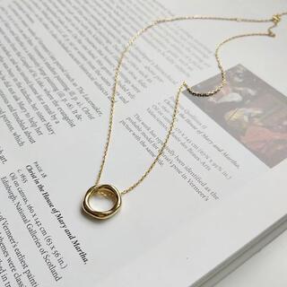 ノーブル(Noble)のシルバー925 ゴールド サークル ネックレス(ネックレス)