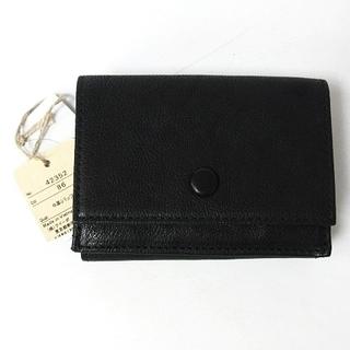 ゲンテン(genten)のゲンテン ミニモ 三つ折り 財布 ミニ財布 42352 バッファローレザー 黒(財布)
