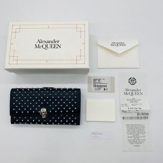 アレキサンダーマックイーン(Alexander McQueen)のSALE❗️新品☆アレキサンダーマックイーン 財布 長財布 二つ折り 黒 人気(長財布)