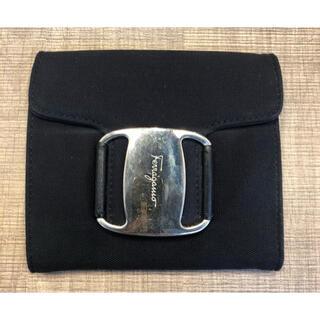 フェラガモ(Ferragamo)の美品 フェラガモ 財布 黒 シルバー(財布)