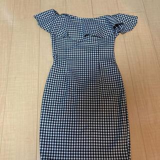 デイジーストア(dazzy store)のデイジー ギンガムチェック ベアトップドレス(ナイトドレス)