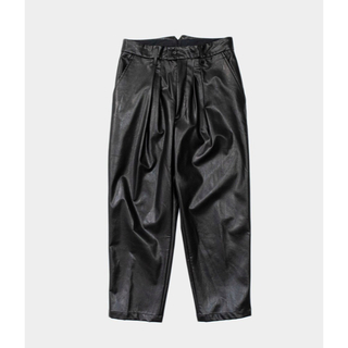 SUNSEA - stein/EX WIDE TAPERED TROUSERS(LEATHER)