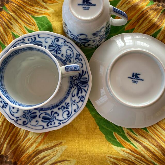NIKKO(ニッコー)のNIKKO珈琲 ペアカップ  インテリア/住まい/日用品のキッチン/食器(グラス/カップ)の商品写真