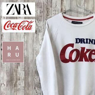 アルチュザラ(Altuzarra)のZARA ザラ コカコーラ ビックロゴ トレーナー スウェットコラボ商品(スウェット)