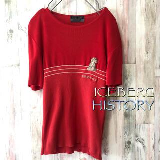 アイスバーグ(ICEBERG)のICEBERG HISTORY アイスバーグ ヒストリー DISNEY 刺繍入り(ニット/セーター)