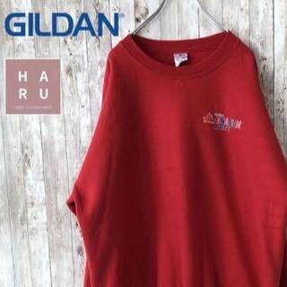 GILDAN - 美品☆ビッグシルエット裏起毛トレーナー CANADIAN LIGHT 赤