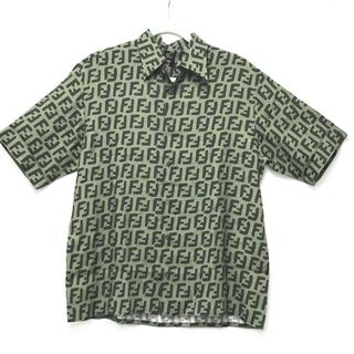 フェンディ(FENDI)のフェンディ FS0770 A75G ズッカ FF柄 半袖シャツ レーヨン(シャツ)