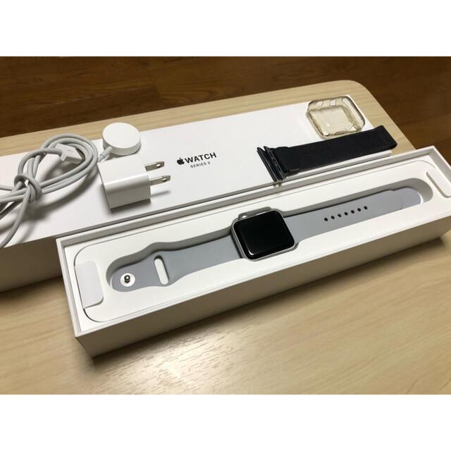 Apple Watch(アップルウォッチ)のApple Watch series 3 42mm 美品 アップルウォッチ メンズの時計(腕時計(デジタル))の商品写真