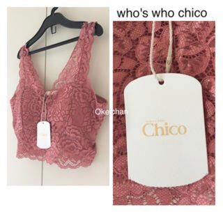 who's who Chico - Who's who Chico レースブラレット ピンク