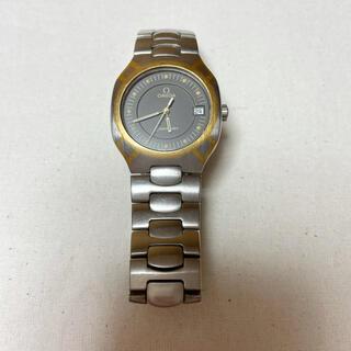 OMEGA - 【ジャンク品】オメガ シーマスター ポラリス クォーツ デイト メンズ腕時計