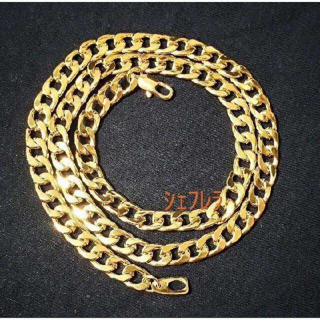 【18K刻印入り】 喜平 ネックレス ゴールド マイアミ キューバン メンズのアクセサリー(ネックレス)の商品写真