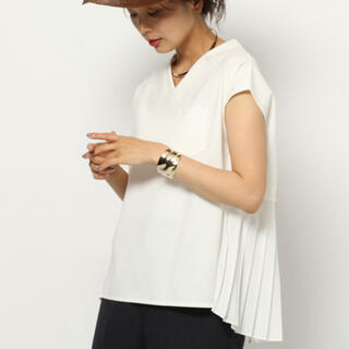 バンヤードストーム(BARNYARDSTORM)のホワイト カットソー  Tシャツ 半袖 フリーサイズ BARNYARDSTORM(Tシャツ(半袖/袖なし))