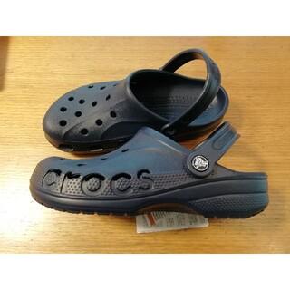 crocs - 【激安送料込み】今だけ値下げ大人気早い者勝ちネイビークロックスサンダル24cm