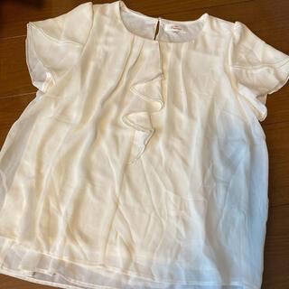 アオヤマ(青山)のnline ブラウス ホワイト(シャツ/ブラウス(半袖/袖なし))