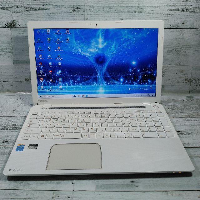 東芝(トウシバ)の東芝 T554 ノートパソコン i5 8GB 新品SSD480GB カメラ BD スマホ/家電/カメラのPC/タブレット(ノートPC)の商品写真