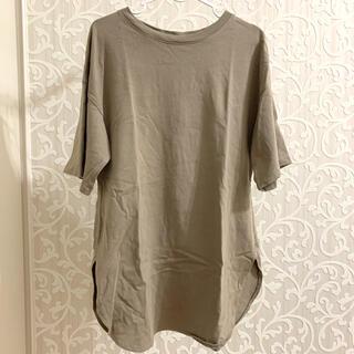 GU - GU スリットビッグTシャツ