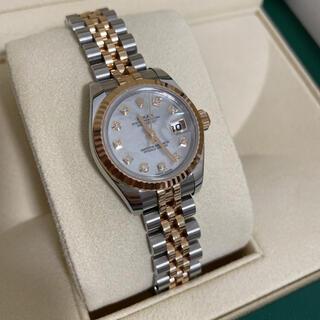 ロレックス(ROLEX)のロレックス PG デイトジャスト シェルフェイス 10Pダイヤ(腕時計)