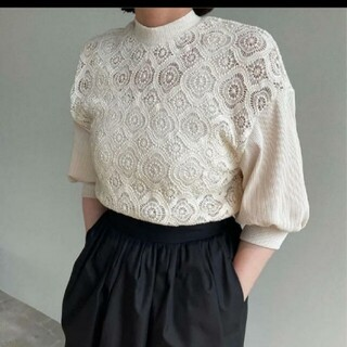 STUDIOUS - CLANE クラネ COMPACT VINTAGE LACE TOPS