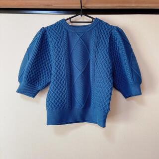 エモダ(EMODA)のEMODA バルキーケーブルニットトップ(Tシャツ(半袖/袖なし))