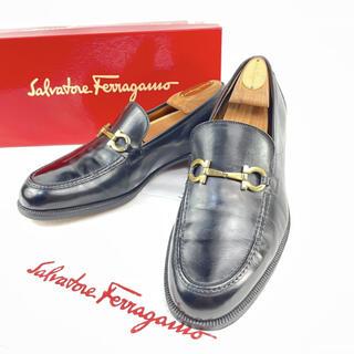 サルヴァトーレフェラガモ(Salvatore Ferragamo)のフェラガモ ガンチーニ レザー ローファー ビジネスシューズ 革靴 7EE(ドレス/ビジネス)