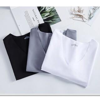 3枚セット L シームレスインナー Tシャツ メンズ トップス 吸汗 速乾