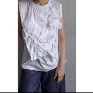 エンフォルド(ENFOLD)の新品 ENFOLD デザイントップス ワンサイズ(カットソー(半袖/袖なし))