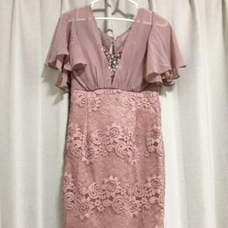 新品 キャバドレス ミニドレス タイトドレス 袖ありドレス ピンクドレス