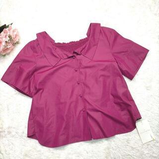 ウィルセレクション(WILLSELECTION)のウィルセレクション 新品未使用品 デザインシャツ 刺繍 紫 Mサイズ a968(シャツ/ブラウス(半袖/袖なし))