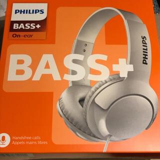 フィリップス(PHILIPS)のPHILIPSフィリップスBass+ SHL3075WTヘッドホン マイク付(ヘッドフォン/イヤフォン)