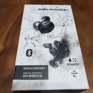 オーディオテクニカ(audio-technica)のオーディオテクニカ ATH-sports5tw 新品未開封品!(ヘッドフォン/イヤフォン)