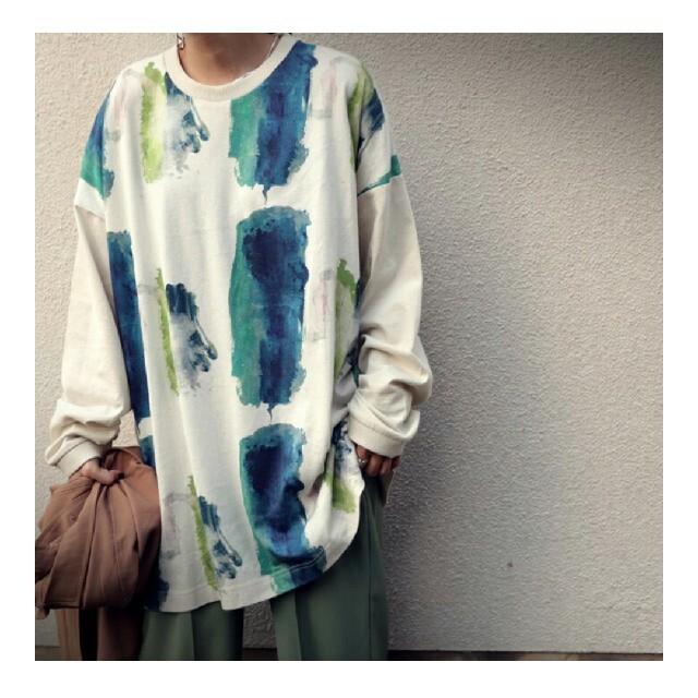 antiqua(アンティカ)のアンティカ  ロングTシャツ レディースのトップス(Tシャツ(長袖/七分))の商品写真
