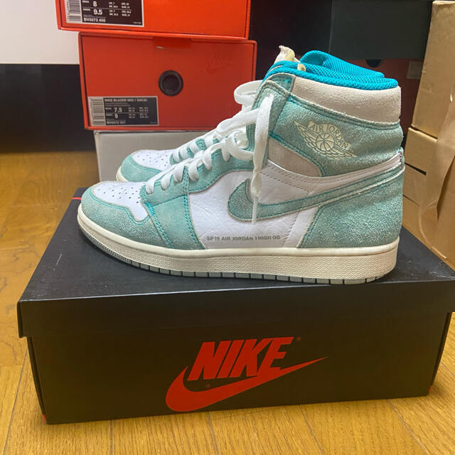 NIKE(ナイキ)のNIKE Jordan 1 TURBO GREEN ターボグリーン メンズの靴/シューズ(スニーカー)の商品写真