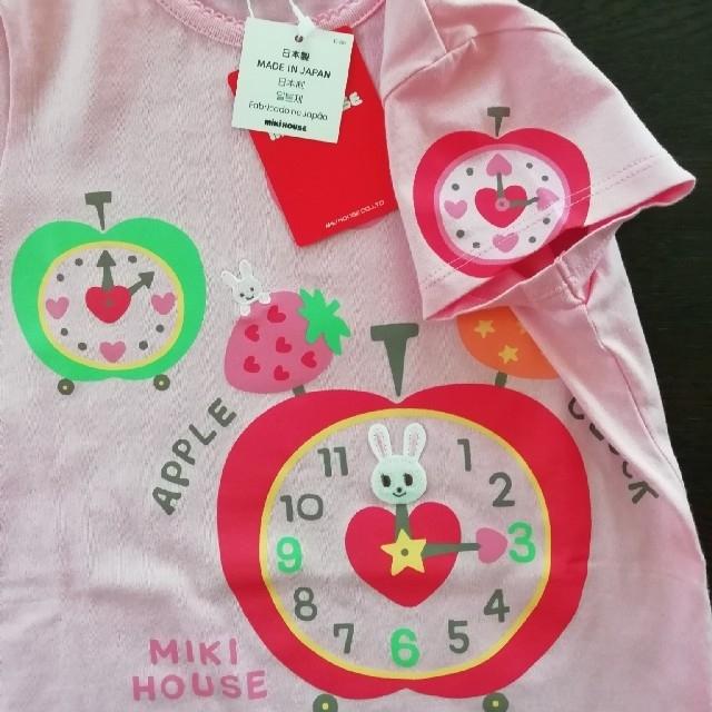 mikihouse(ミキハウス)のミキハウス 半袖Tシャツ100㎝ 新品未使用 キッズ/ベビー/マタニティのキッズ服女の子用(90cm~)(Tシャツ/カットソー)の商品写真