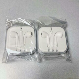 iphone イヤホン 新品 即購入ok イヤフォン 純正品質 2個セットCl(ヘッドフォン/イヤフォン)