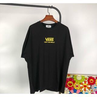 ヴァンズ(VANS)のVANS  ヴァンスストリートひまわり💏カップル半袖tシャツ  黒いM(Tシャツ(半袖/袖なし))