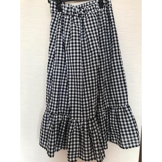 dholic(ディーホリック)のDHOLIC ギンガムチェックフリルスカート レディースのスカート(ひざ丈スカート)の商品写真