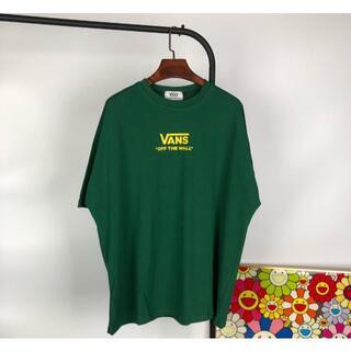 ヴァンズ(VANS)のVANS ヴァンスストリートひまわり💏カップル半袖tシャツ グリーンM (Tシャツ(半袖/袖なし))