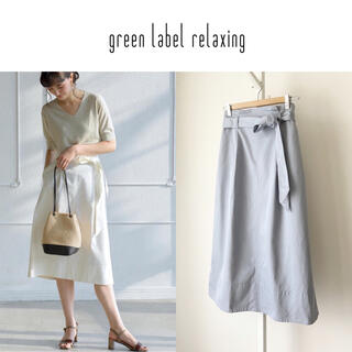 green label relaxing - green label relaxing コットンリネンチノスカート