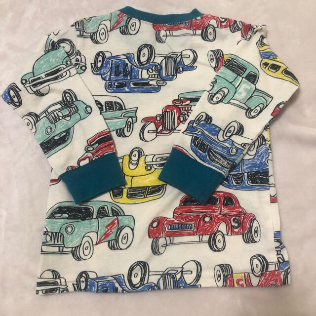 キッズ 男の子 車 長袖 ロンT 100 キッズ/ベビー/マタニティのキッズ服男の子用(90cm~)(Tシャツ/カットソー)の商品写真