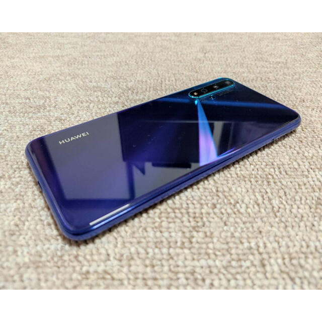 HUAWEI(ファーウェイ)の使用期間1ヶ月!HUAWEI NOVA 5T クラッシュブルー 超美品! スマホ/家電/カメラのスマートフォン/携帯電話(スマートフォン本体)の商品写真
