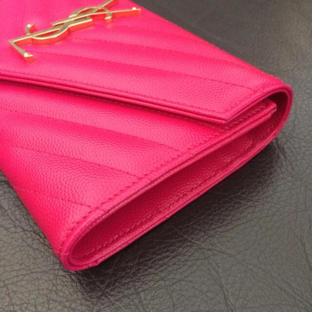 Saint Laurent(サンローラン)の新品未使用 サンローラン 長財布 モノグラム ミニ レザー バッグカードケース レディースのファッション小物(財布)の商品写真