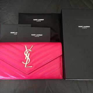Saint Laurent - 新品未使用 サンローラン 長財布 モノグラム ミニ レザー バッグカードケース