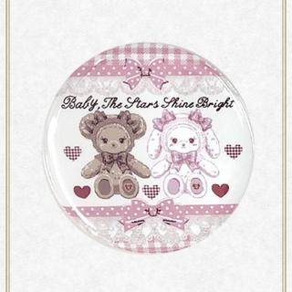 ベイビーザスターズシャインブライト(BABY,THE STARS SHINE BRIGHT)の【新品】くみゃちゃんのSweet Heart Check柄缶バッジ(ピンク)(その他)