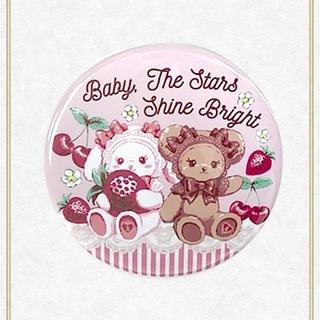 ベイビーザスターズシャインブライト(BABY,THE STARS SHINE BRIGHT)の【新品】くみゃちゃんのCherry Strawberry柄缶バッジ(ピンク)(その他)