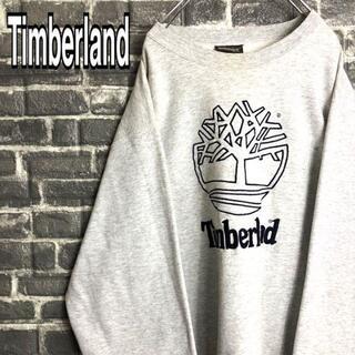 ティンバーランド(Timberland)のティンバーランド☆スウェット 古着デカロゴ 刺繍ロゴ ゆるだぼ 90s c76.(スウェット)