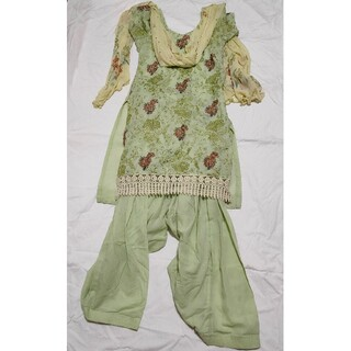 刺繍入りパンジャビドレス セットアップ 3点セット(その他ドレス)